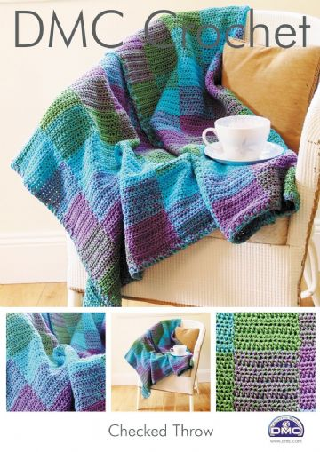 DMC Checked Throw Petra Crochet Pattern